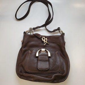 B. Makowsky Brown Leather Bag NEW